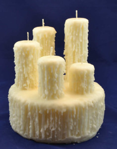 Bespoke multi-wick candle made for a wedding